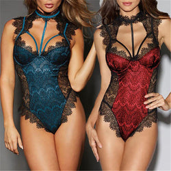 Casual Women Sexy Lace Bodysuits High Quality Comfort Breathable Female Babydoll Nightwear Christmas