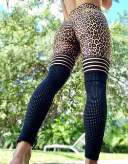 Leopard Leggings Sportswear Outfits Bodybuilding Slim