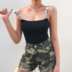 Bodycon Strappy Backless Cotton Bodysuit Women Straps Sleeveless Casual Jumpsuit Femme Romper Streetwear Summer Fashion