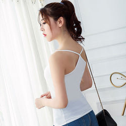 Summer Women Camis Tops Fashion Sleeveless Tanks Tops Cross Straps Backless Vest