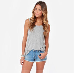 Sexy Backless Tank Tops Women Summer O-Neck Deep V Back Clubwear Beachwear Slim Ladies Vest Casual Sleeveless Tank Top Tee