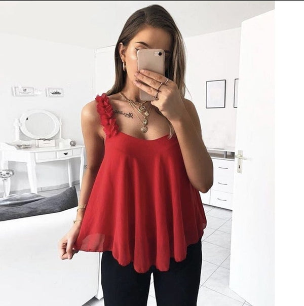 Sexy loose large sleeveless waistcoat woman halter tank tops Solid color