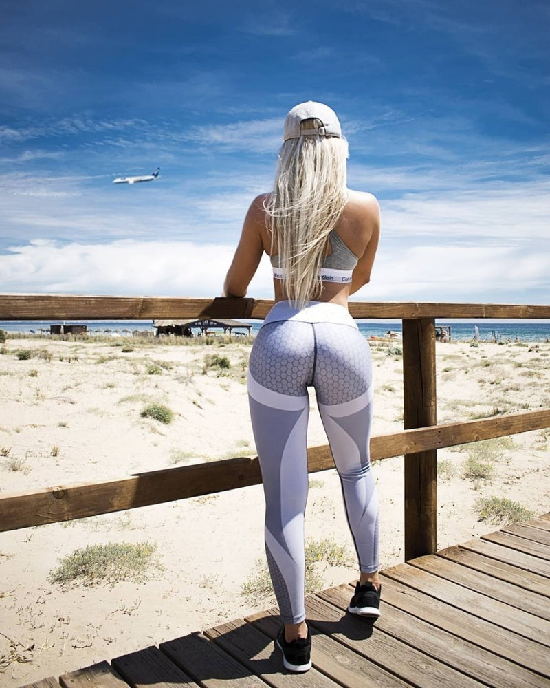 Pattern Print Leggings Fitness Outfits For Women Sports