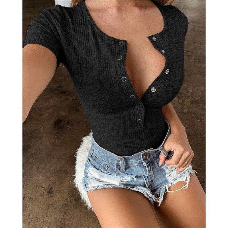 Ribbed Knitted Casual Bodysuits Women Black Sleeveless Summer Slim Rompers Womens Jumpsuit Basic Playsuit Womens Tops