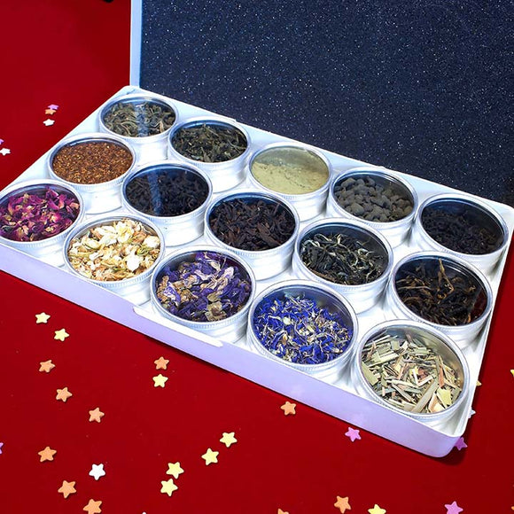Loose Leaf Tea - Colored Metal Box 15pc