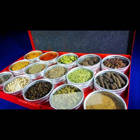 Spice Box Spice Rack - Whole and Ground 15pc