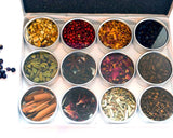 Tonic & Gin Botanicals - 12pc Colored Metal Box