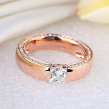 Load image into Gallery viewer, 14K Rose Gold 0.6 Carat Moissanite Diamond Wedding Band Ring | SpellBound Jewelers
