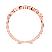 Load image into Gallery viewer, 14K Solid Rose Gold Wedding Band Stackable Ring 0.03 Ct Diamond | SpellBound Jewelers