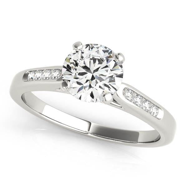 14k White Gold Single Row Diamond Engagement Ring (1 cttw) | SpellBound Jewelers