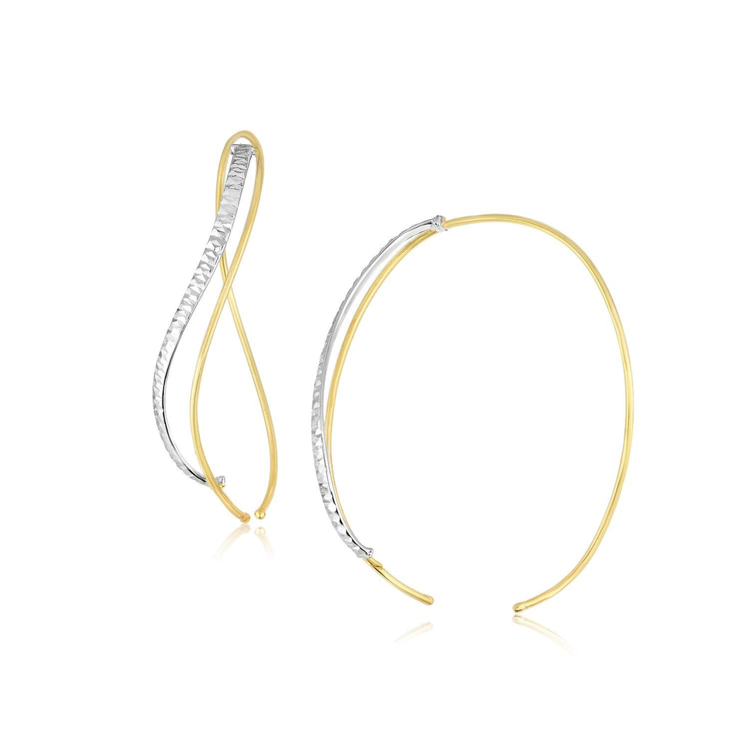 SpellBound Élégante™  Twisted Texture Gold Hoop Earrings (1.18 in.) | SpellBound Jewelers