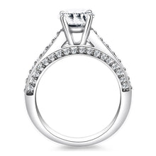 Load image into Gallery viewer, 14k White Gold Pave Diamond Cathedral Engagement Ring | SpellBound Jewelers