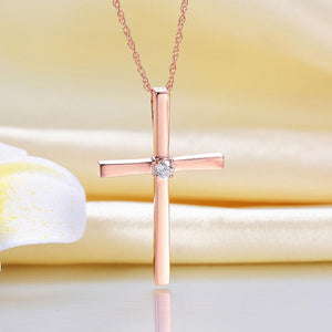 SpellBound Classic™ Golden Rose Cross Pendant Necklace | SpellBound Jewelers