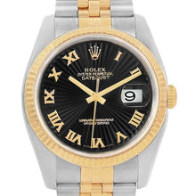Load image into Gallery viewer, Pre-owned Independently Certified Rolex Steel/18ky Mens Blk Datejust | SpellBound Jewelers