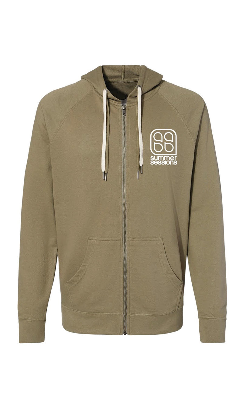 SS Gear - Classic Logo Zip Up Hoodie Olive