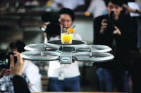 DRONES to REPLACE WAITERS ?