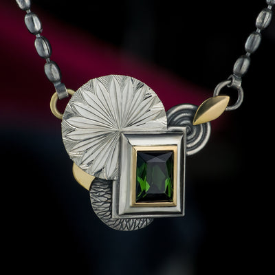 Tourmaline layer pendant