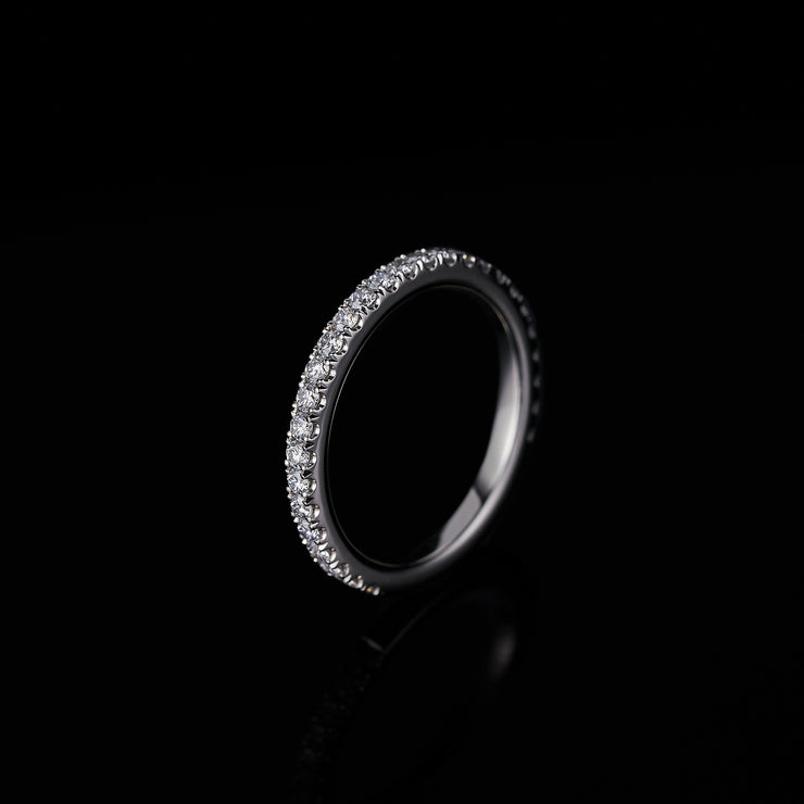 castelle set diamond eternity band in platinum