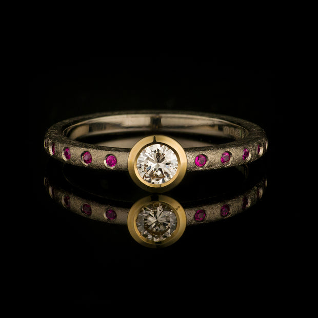 Diamond and rubies ring