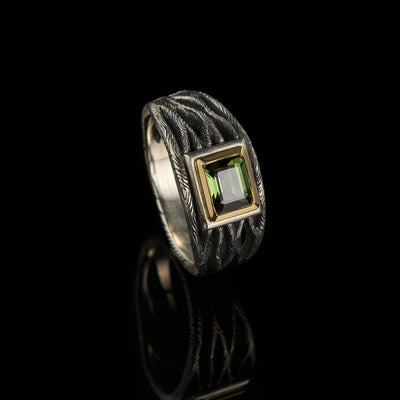 Roots tourmaline ring