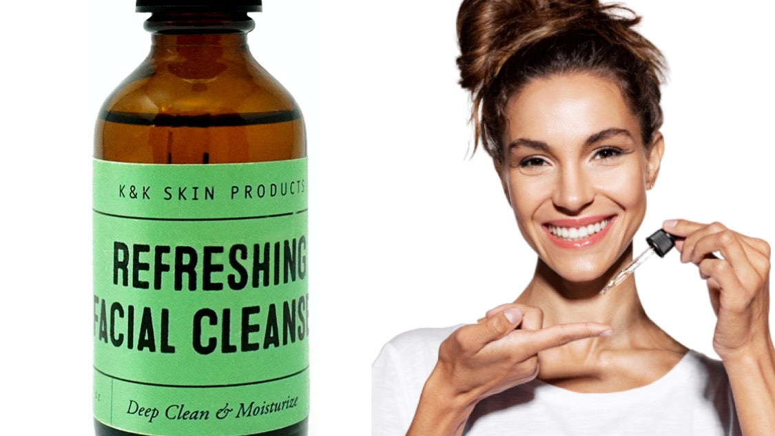 Top 4 benefits of oil cleansing with our Refreshing Facial Cleanser