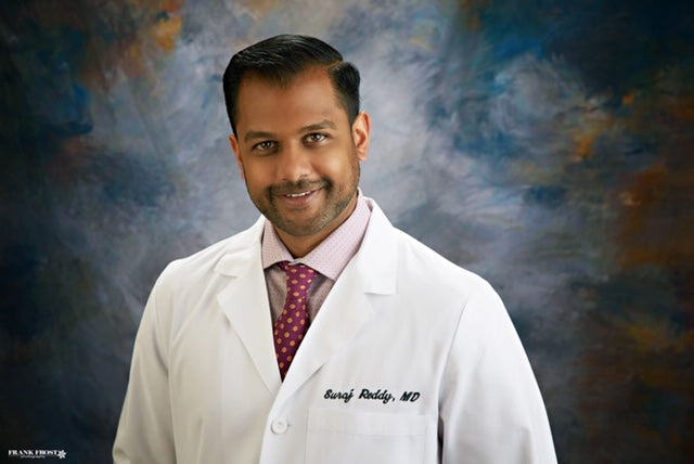 Proudly endorsed by a local dermatologist Suraj G. Reddy, MD, FAAD