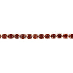 3 3/4 CT TGW Garnet Tassel Bolo Bracelet in Rose Plated Sterling Silver
