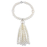 4.5-11 mm Freshwater Cultured Pearl Tassel Bracelet w/ Lobster Clasp Silver White Length (inches): 7.5