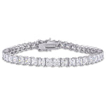 27 CT TGW White Cubic Zirconia Tennis Bracelet in Sterling Silver
