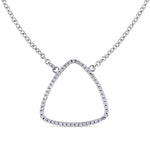 Cubic Zirconia Geometric Necklace in Sterling Silver