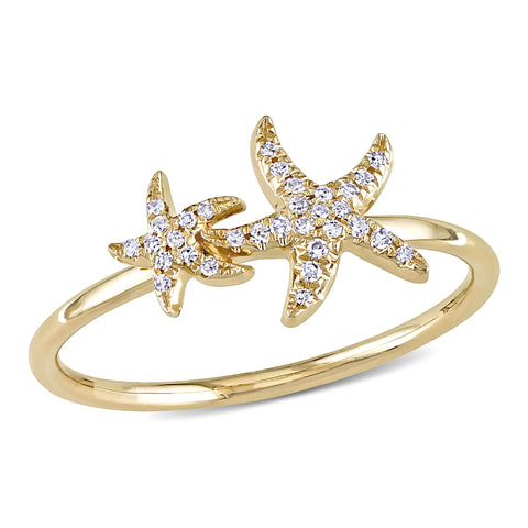 0.08 CT Diamond TW Fashion Ring Gold 14k Yellow