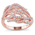 1ct TGW Cubic Zirconia Pink Silver Fashion Ring