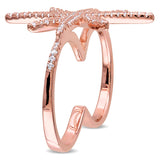 1.32 CT TGW Cubic Zirconia Fashion Ring Silver Pink