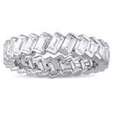 2.75 CT TGW Cubic Zirconia Fashion Ring Silver White
