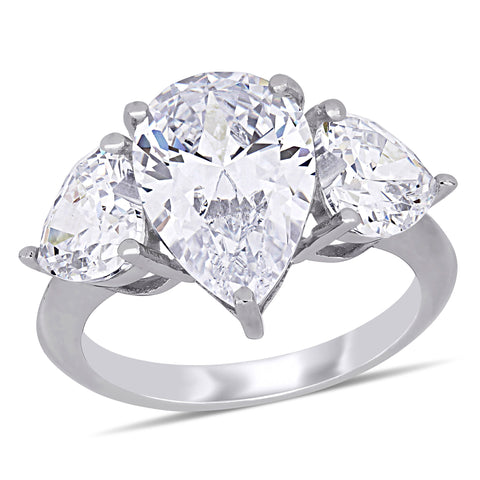 14ct TGW Cubic Zirconia Fashion Ring Silver