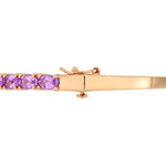 6 CT TGW Oval-Cut Amethyst Bangle in Rose Plated Sterling Silver