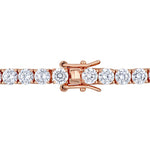18 4/5 CT TGW Cubic Zirconia Tennis Bracelet in Rose Plated Sterling Silver