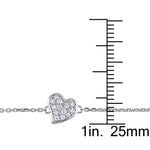 1/10 CT TW Diamond Heart Bracelet in 14k White Gold
