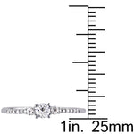 0.05 CT Diamond TW And 1/3 CT TGW Created White Sapphire Fashion Ring Silver GH I2;I3