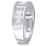 2 3/4 CT TGW Created White Sapphire Fashion Ring Silver