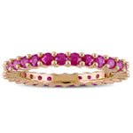 Pink Sapphire Eternity Band in 14k Rose Gold