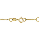 1/10 CT Diamond TW Bracelet With Chain 14k Yellow Gold GH