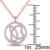 Julianna B Diamond Necklace in 14k Rose Gold