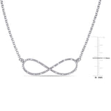 1/10 CT TW Diamond Infinity Necklace in Sterling Silver