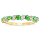 1 CT TGW Tsavorite and 1/4 CT TW Diamond Ring in 14k Yellow Gold