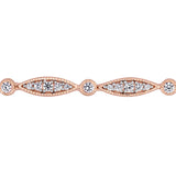 Created White Sapphire Infinity Link Bracelet in Rose Plated Sterling Silver
