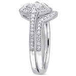 3/4 CT TW Diamond Bridal Set Ring in 10k White Gold