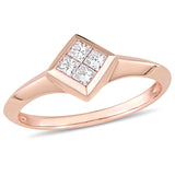 1/4 CT TW Diamond Promise Ring in 10k Rose Gold