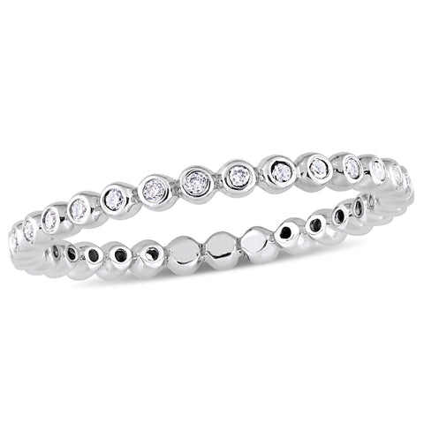 1/4 CT TW Diamond Stackable Eternity Band in 10k White Gold