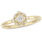 1/6 CT TW Diamond Bohemian Ring in 10k Yellow Gold